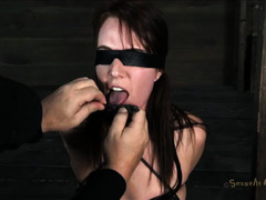 A slut is tormented with electricity, clamps and orgasms