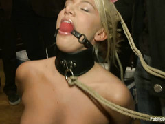 Blonde slut Laela Pryce has her body used at a crazy house party