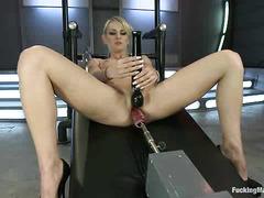Polish minx Natasha Starr is dildo fucked until she's squirting