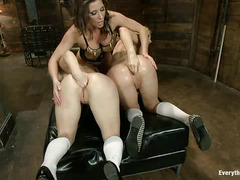 Amy Brooke and Holly Hanna have their pretty little asses dominated