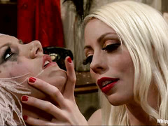 Lorelei Lee punishes naughty girl Laela Pryce with her hand and toys