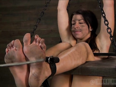 A couple of sluts experience hardcore bondage and squirting orgasms
