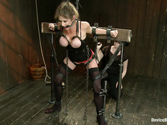 Blonde tramp Felony partakes in her roughest BDSM session yet