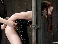 Redhead AnnaBelle Lee is bound and treated like a dirty slut