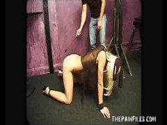 Spanking and rough hardcore of blonde teen
