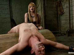 Lea Lexis makes a mockery of Cameron Kincade's tiny, useless dick