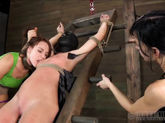 Hardcore sensation play keeps these brunette beauties moaning