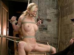 Cherie Deville endures uncomfortable bondage to please her Mistress