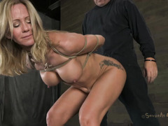 A brunette fucktoy is used and abused by her tortuous Master