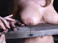 An emotional blonde gets a real lesson in pain and domination