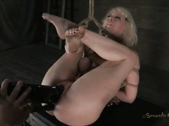 A gorgeous, young slut is bound and stimulated until she creams