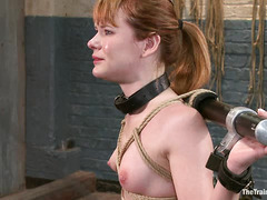 Claire Robbins' slave training involves the use of a hung gimp