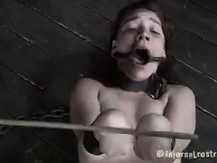 Extreme punishment and bondage await this poor, helpless brunette