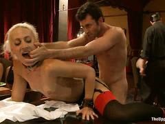 James Deen helps punish the naughty, misbehaving subs of the House