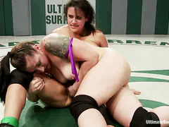 Rookie wrestler Penny Barber hopes to beat the sexy, strong veteran