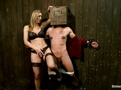 British Dominatrix Tanya Tate rules over the helpless body of Casey More