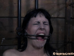 Sadistic Dom loves to gross out his helpless, whining slave girl