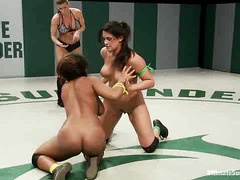 Yasmine Loven and Penny Barber compete for the honor to fuck the other
