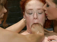 Francesca Le and Ariel X have tons of fun with Audrey Hollander's tight ass