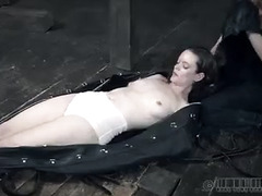 Hazel Hypnotic continues her training exercise with a leather body suit