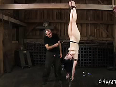 This bondage session is terribly humiliating for this pale-skinned cutie