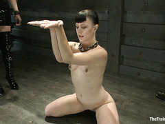 Katharine Cane is pushed into total submission by her two Doms