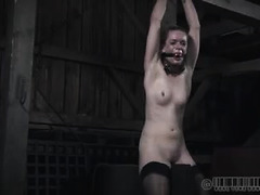 Hazel Hypnotic cries as her small body is mercilessly whipped