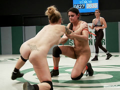 These nude wrestlers are not above playing dirty to win their match