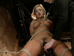 Sex minx Cameron Dee reaches many orgasms during lezdom punishment