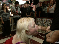Alice Frost is completely humiliated in public for her Domme's enjoyment