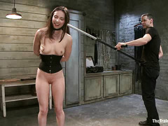 Owen Gray and a gimp straighten out pretty slut Casey Calvert