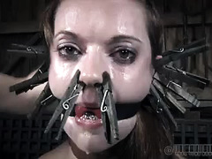 The lovely Hazel Hypnotic continues her marathon BDSM session