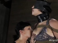 This Domme's whip is loud whenever it strikes her sub's body