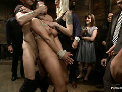Lorelei Lee brings Audrianna Lund to a huge party to be used