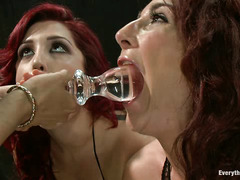 Dayna Vendetta, Savannah Fox and Isis Love indulge in some ass fucking