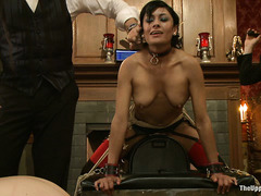 The House's slaves are treated to awesome machine fucking action