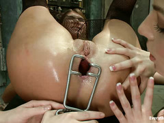 Bailey Blue and Cassandra Nix get an intense lesson in ass pleasure