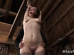 A cute slave needs to earn the privilege of sucking her Dom's cock