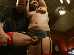 When one of the slaves misbehaves, she has to be punished brutally