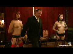 These disappointing slave girls spend the night being punished