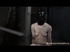A short-haired sub cries ugly tears during her punishment