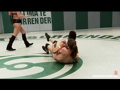 Petite wrestlers Audrey Rose and Nikki Darling go head to head