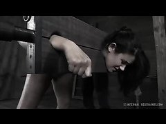 Penny Barber cries as her bouncy ass is caned and punished