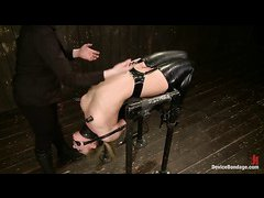 Bondage, caning and double penetration are in store for Bailey Blue