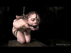 Even Mira Raine's feet are caned during her punishment session