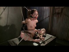Tight ropes and an anal pounding have Kristina Rose moaning