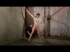 Petite, bound stunner Kristine Kahill is pushed to her limits