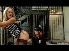 MILF hooker Simone Sonay is busted by sexy cop Elle Alexander
