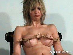 Sexy english milf Emma Louise in bondage