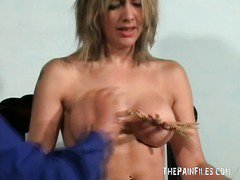 Sexy english milf Emma Louise in bondage